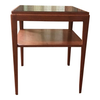 Mid Century Modern Mirrored Top Table For Sale