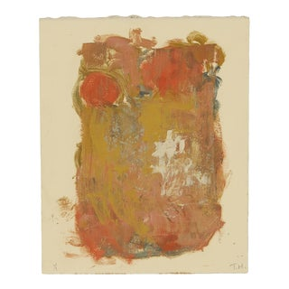 Original Hand-Painted Monotype on Arches Paper For Sale