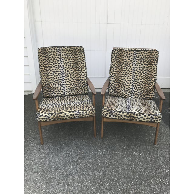Vintage Danish Modern High Back Armchairs - A Pair - Image 3 of 11