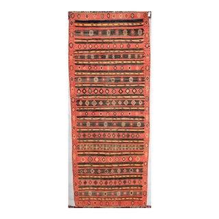 Vintage Persian Kilim Runner Rug - 5′10″ × 14′ For Sale