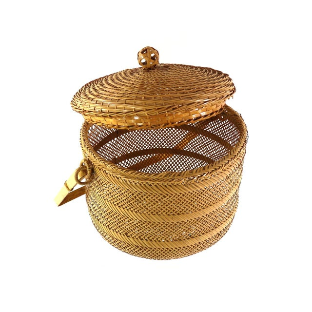 1930s Finely Woven Vintage Japanese Basket - Image 3 of 5