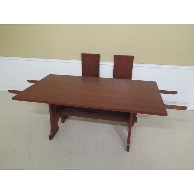 1990s Vintage Stickley Cherry Mission Style Cherry Dining Room Table For Sale In Philadelphia - Image 6 of 12