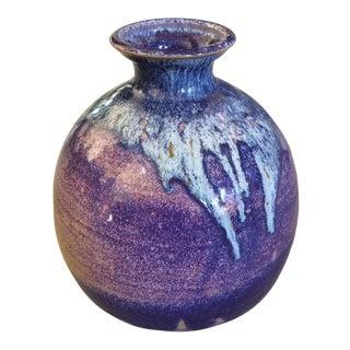 Large Handmade Glazed Pottery Vase