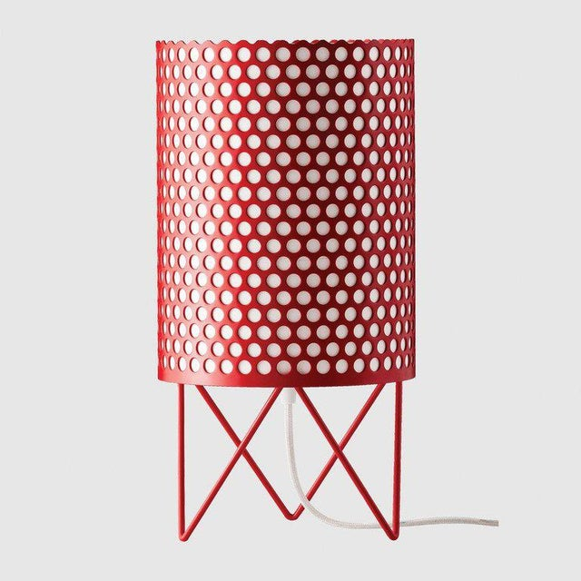Mid-Century Modern Joaquim Ruiz Millet White Aluminum 'Abc' Table Lamp For Sale - Image 4 of 6