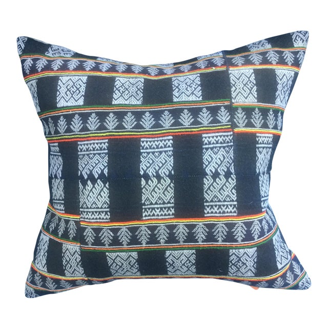 Asian Tribal Textile Pillow - Image 1 of 6