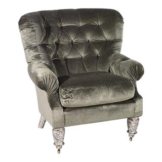 Traditional Kravet Wingback Chair For Sale