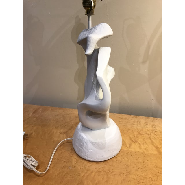 Plaster Abstract Feminine Figure Lamp For Sale - Image 4 of 8