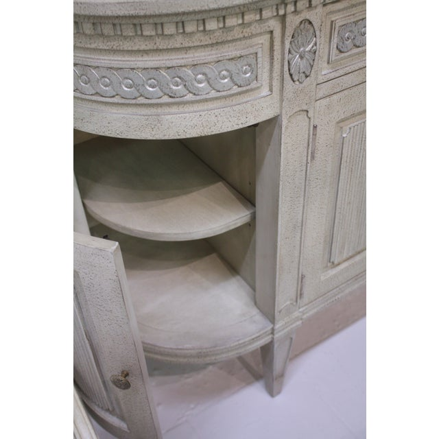 Swedish Gustavian Enfilade Buffet For Sale In Greensboro - Image 6 of 9