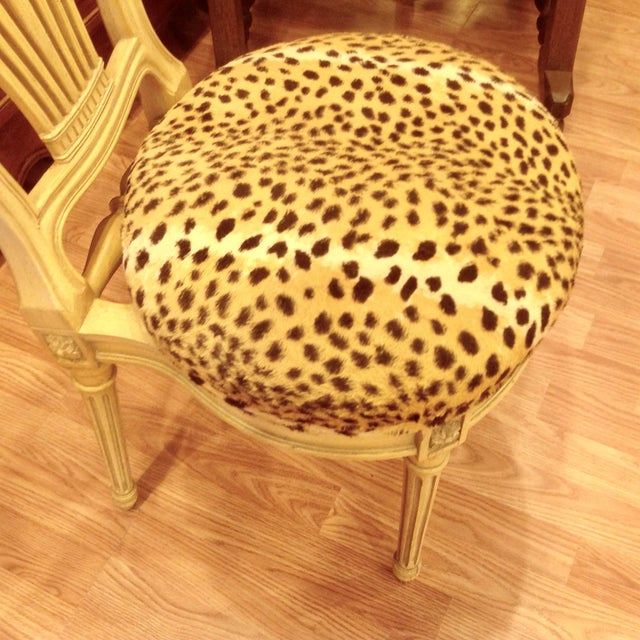 Set of 4 Jansen Style Balloon Back Chairs For Sale - Image 9 of 12