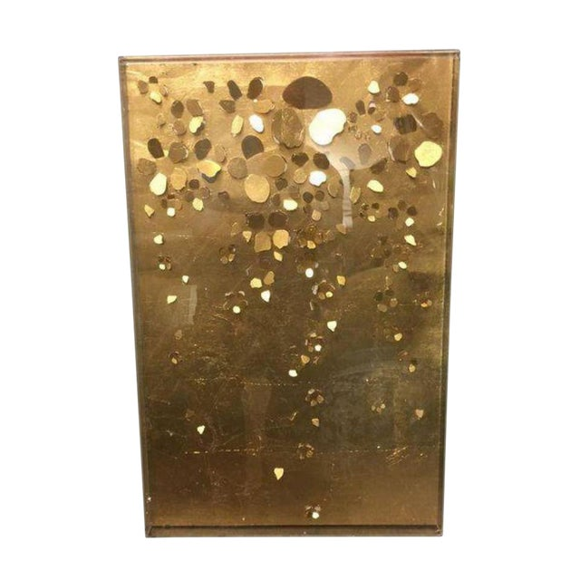 Gold Floral Cut Out in Acrylic Shadowbox - Image 1 of 3