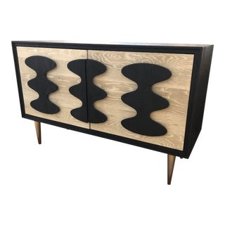 Jonathan Adler Toklas Console Cerused Oak Ebonized Cabinet For Sale