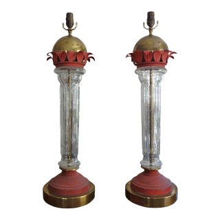 Modern Italian Tole Lamps - A Pair