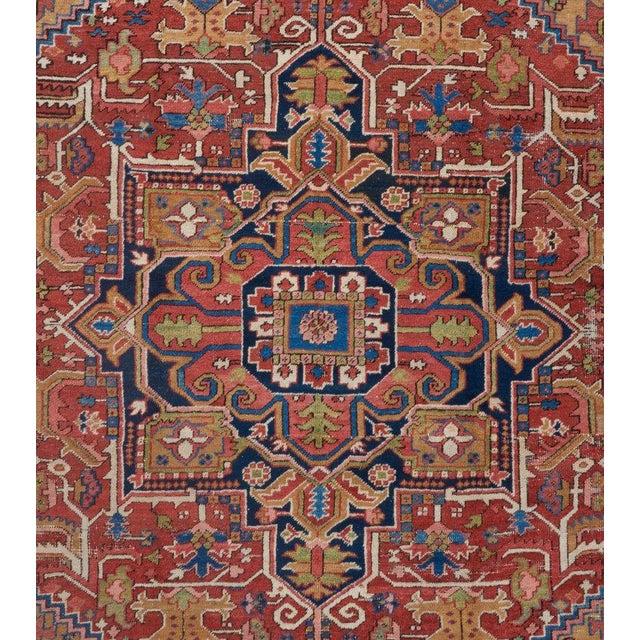 Heriz Medallion Carpet For Sale - Image 4 of 5