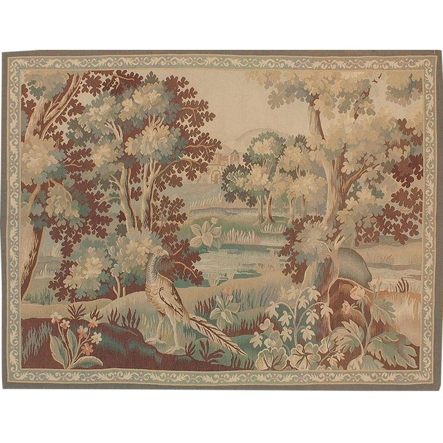 Recreation of an 18th Century Aubusson Design Verdure Tapestry For Sale