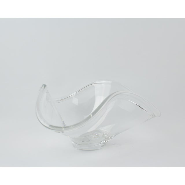 Crystal Rosenthal Crystal Rounded Wave Bowl For Sale - Image 7 of 12
