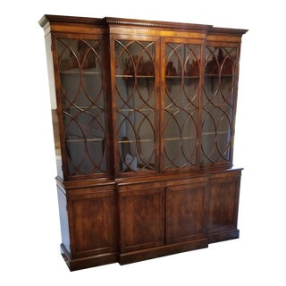 Mahogany Breakfront by Old Colony Furniture Co For Sale