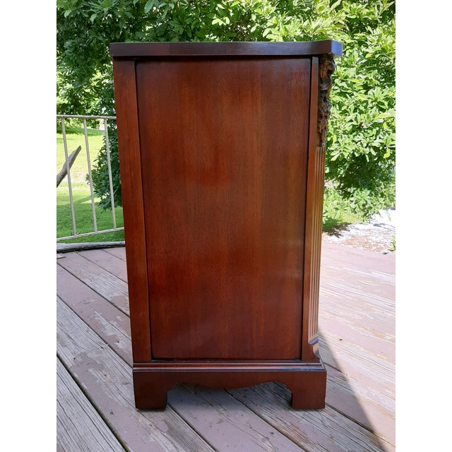 1940s Vintage 1940's Mahogany 4 Drawer Server Accent Chest For Sale - Image 5 of 13