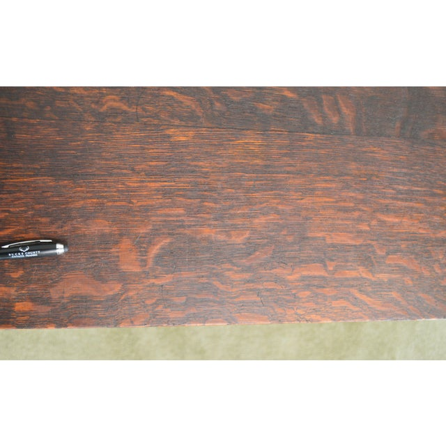 Mission Oak Antique One Drawer Table Writing Desk Possibly Stickley For Sale - Image 9 of 13
