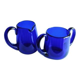Cobalt Blue Cream & Sugar Set