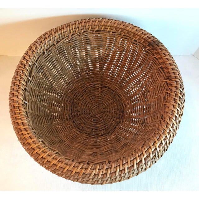 Vintage Mid Century Natural Wicker Planter For Sale - Image 4 of 8
