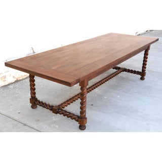 Renaissance Expandable Barley Twist Walnut Dining Tabl Preview