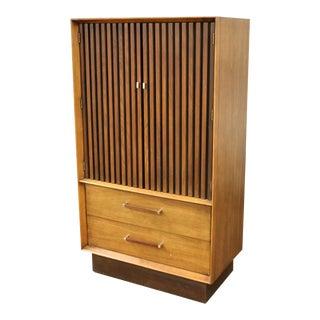 Mid Century Modern Lane Altavista Pecan Rosewood Highboy Dresser Chest 1970s For Sale