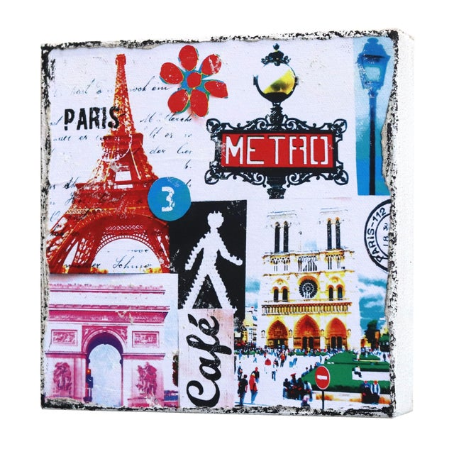 """Paris Metro"" Original Artwork by Marion Duschletta For Sale In Los Angeles - Image 6 of 10"