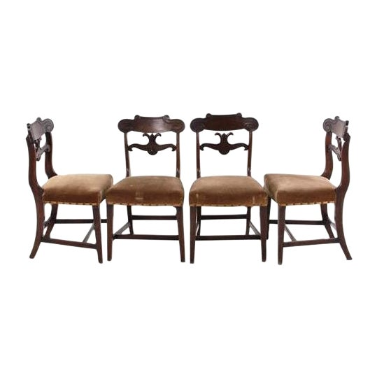 William IV Mahogany Side Chairs C. 1825 - Set of 4 - Image 1 of 4