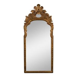 Antique Italian Neoclassical Gilded Mirror circa 1790 (24″w x 58″h) For Sale