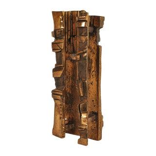 Bronze Abstract Brutalist Sculpture For Sale