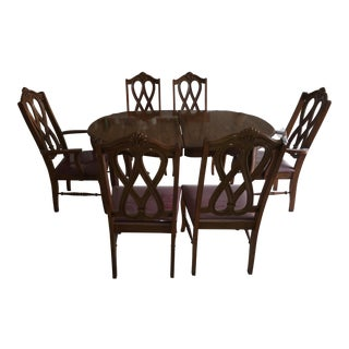 1970's Antique Queen Ann Dining Set For Sale