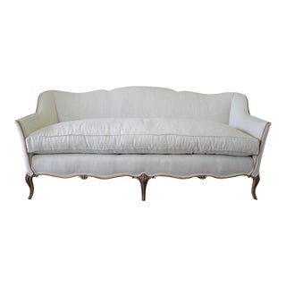 Early 20th Century French Country Style Belgian Linen Upholstered Sofa