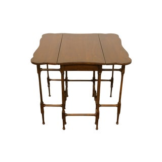 20th Century Traditional Brandt Furniture Pembroke Drop Leaf Accent End Table For Sale