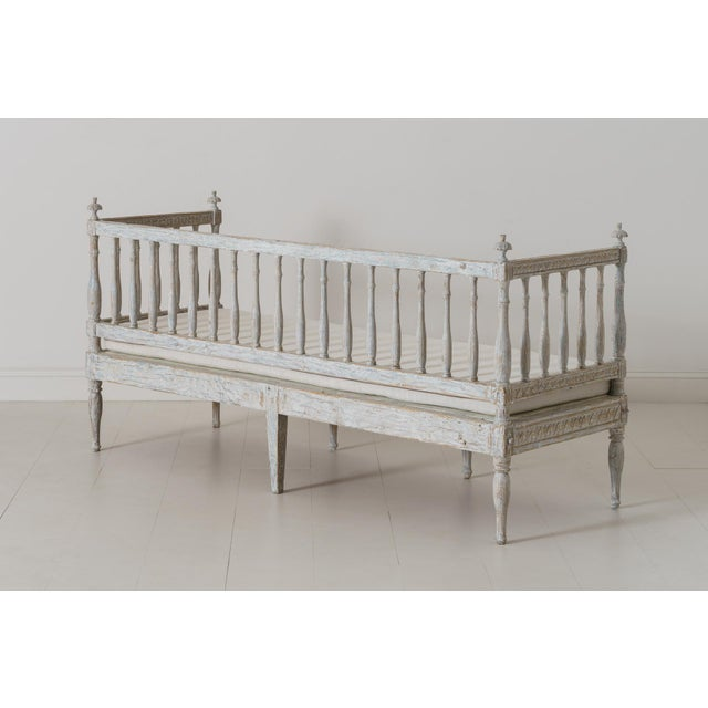 19th Century Swedish Gustavian Period Sofa Bench For Sale - Image 11 of 12