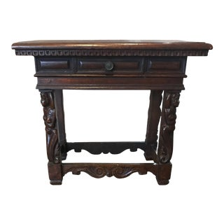 Antique Walnut Side Table, circa 1780 For Sale