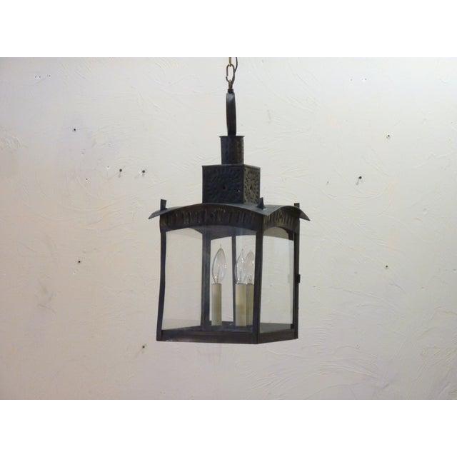 Gray American Tin Lantern For Sale - Image 8 of 8