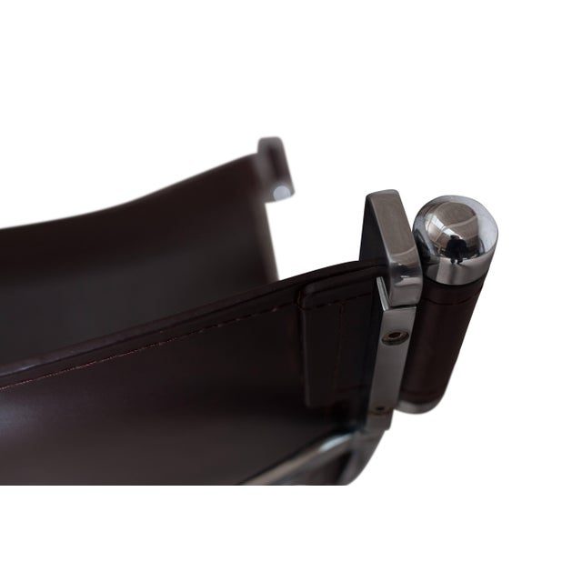 1970s Lounge Chair by Paul Tuttle in Chrome and Leather For Sale - Image 5 of 6