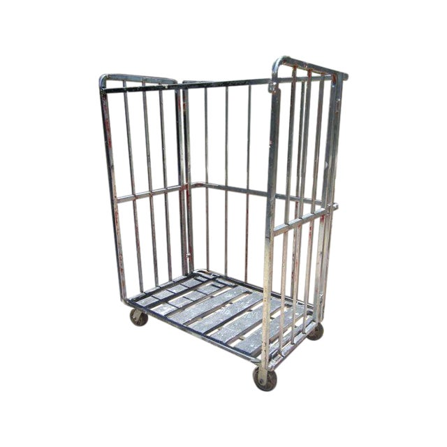 Industrial Rolling Freight Cart Garment Rack - Image 1 of 4