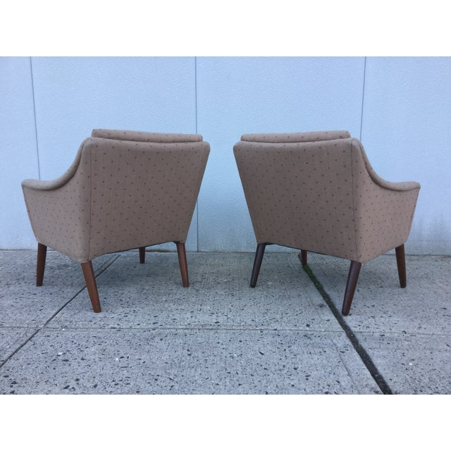 Vintage Danish Modern Lounge Chairs - A Pair - Image 4 of 11
