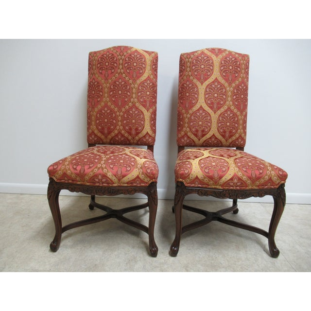 Fremarc Designs Country French Walnut Dining Chairs - a Pair For Sale - Image 12 of 12
