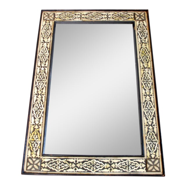 Moroccan Bone Inlaid Mirror For Sale