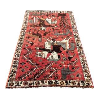 Vintage Persian Shiraz Rug - 3′9″ × 6′3″