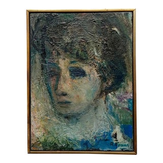 Robert Frame - Portrait of Sylvia- Oil Painting For Sale