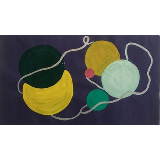 Vintage Still lIfe Knitting Painting 1950s For Sale