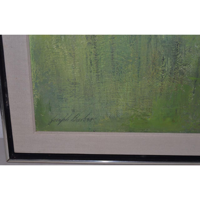 "Impressionism Mid-Century Modern ""Wheatfield"" Oil Painting by Joseph Barber C.1960 For Sale - Image 3 of 11"