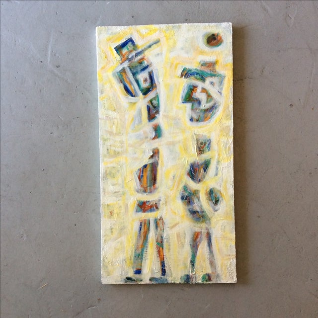 Contemporary Painting - Yellow Man - Image 2 of 3