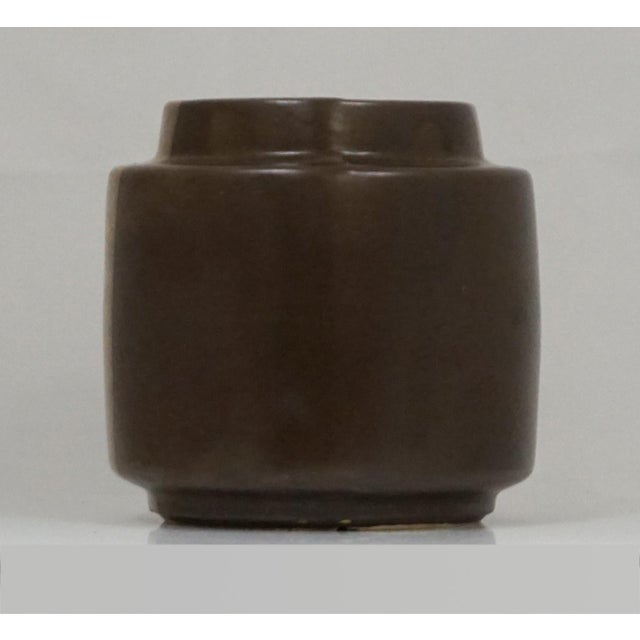 Mid-Century Modern McCoy Three Tone Brown Pot For Sale - Image 3 of 7