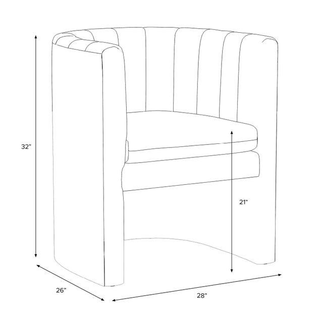 Textile Barrel Chair, Monaco Citronella For Sale - Image 7 of 8