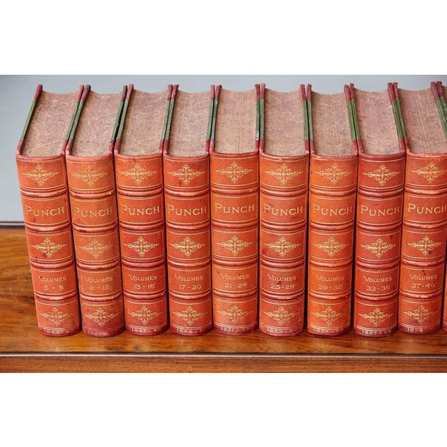 Set of 24 Leather Bound Volumes of Punch No 5-100 from the Estate of José Ferrer For Sale - Image 4 of 11