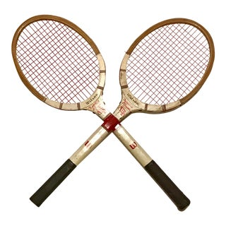Vintage Wilson Famous Player Tennis Racquets - Set of 2 For Sale